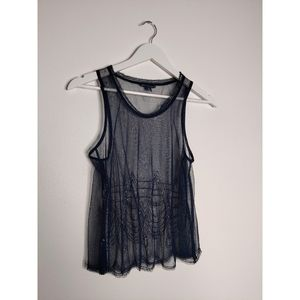 American Eagle Outfitters Dark Blue Beaded Top
